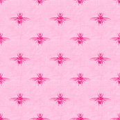 Bee in Hot Pink, Rustic Linen