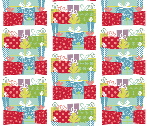 Gifts Galore fabric by drapestudio on Spoonflower - custom fabric