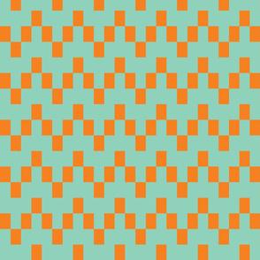 Angular Chevron - Mint/Orange