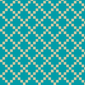 Pixel Box - Teal/Bone