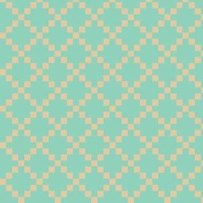 Pixel Box - Mint/Bone