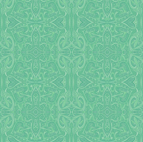 Elegant in Mint fabric by edsel2084 on Spoonflower - custom fabric