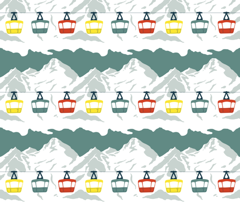 Gaga for Gondolas fabric by katherinelenius on Spoonflower - custom fabric