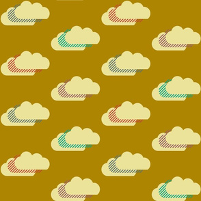Clouds - gold