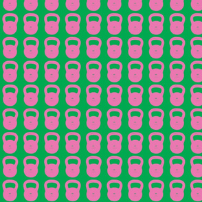 Kettlebell pink and green