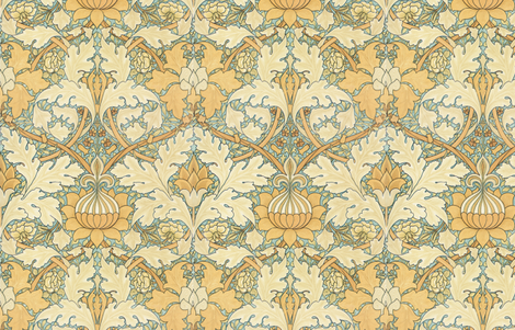 William Morris ~ Growing Damask ~ Large fabric by peacoquettedesigns on Spoonflower - custom fabric