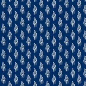 large_shell_white on navy
