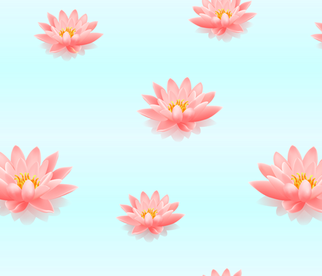 Lotus pattern fabric by gleolite on Spoonflower - custom fabric