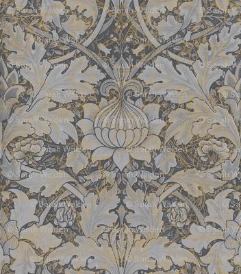William Morris ~ Growing Damask ~ Grey Garden