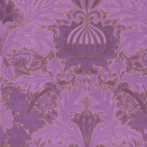 William Morris ~ Growing Damask ~ Hothouse Flower and Gilt