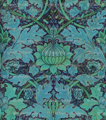 William Morris ~ Growing Damask ~ Night Garden