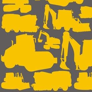 Boys toys yellow grey