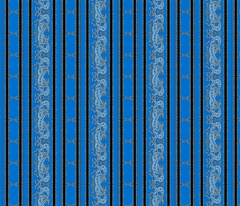 Celtic Knot Greyhounds, blue stripes fabric by artbyjanewalker on Spoonflower - custom fabric