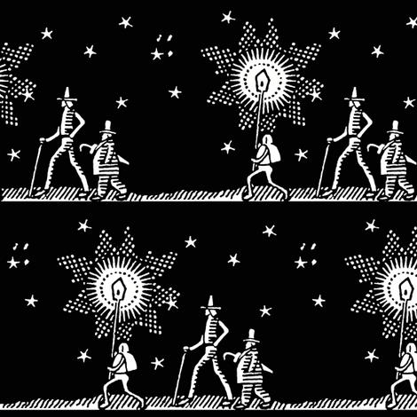 midnight stroll toile fabric by keweenawchris on Spoonflower - custom fabric