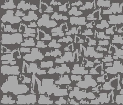 Boys toys grey fabric by pennyroyal on Spoonflower - custom fabric