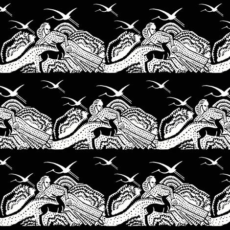 repose toile black fabric by keweenawchris on Spoonflower - custom fabric