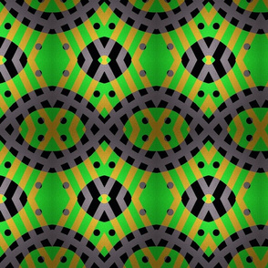 GREEN abstract frabric