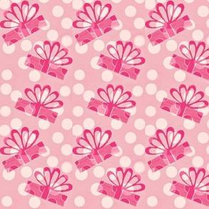 Valentine's pink polka dot gift surprise