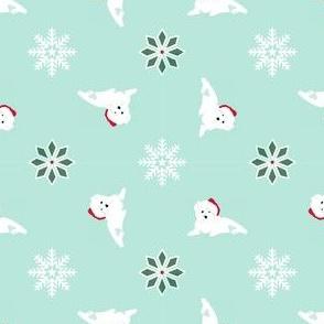 Westie Santa