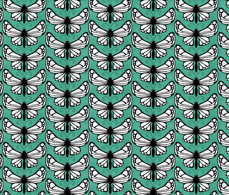 Butterfly IV. fabric by pond_ripple on Spoonflower - custom fabric