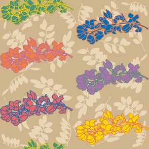 Acaicia Floral in Bright Hues Large