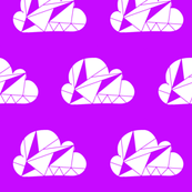 Geometric Clouds Purple