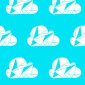 Geometric Clouds Blue