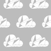 Geometric Clouds Grey