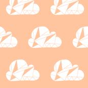 Geometric Clouds Peach