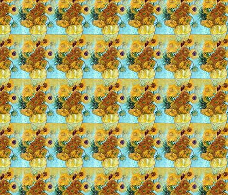 Vincent Van Gogh Vase With Twelve Sunflowers 1889 fabric by mandamacabre on Spoonflower - custom fabric