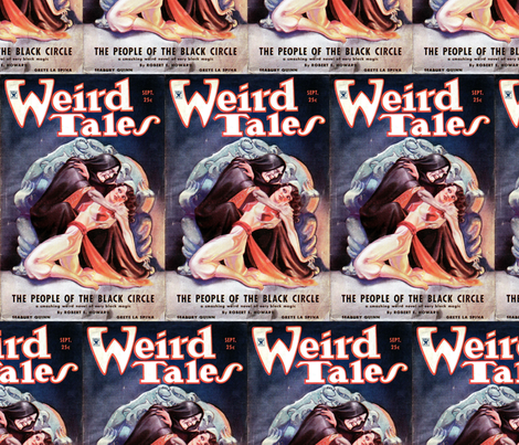 Weird Tales volume 24 number 03 September 1934 fabric by mandamacabre on Spoonflower - custom fabric