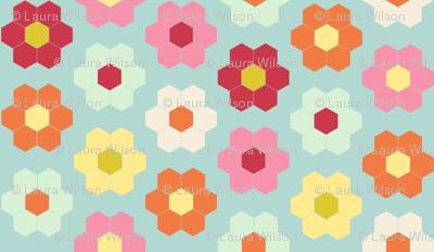 flower garden quilt cheater - color palette for contest