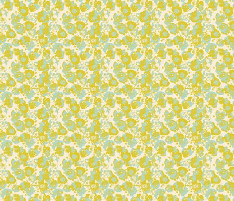 Love in Idleness and Spangled Stars on Cream fabric by bloomingwyldeiris on Spoonflower - custom fabric
