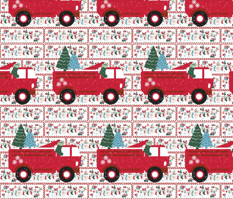 Mittesn Party Fire Truck Template Large Fabric Drapestudio