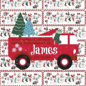 Mitten Party Fire Truck Large Personalized