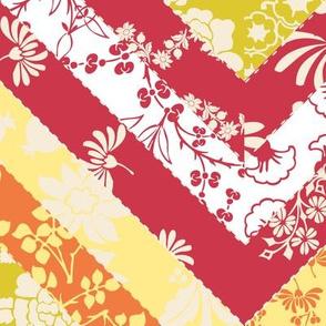 Chevron Floral Quilt