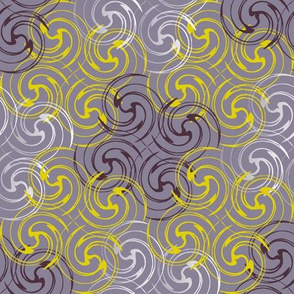 Spirals_purple and yellow