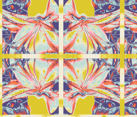 Fantasy lily fabric by lifepatterns on Spoonflower - custom fabric