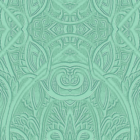 The Year Was 1914 (green) fabric by edsel2084 on Spoonflower - custom fabric