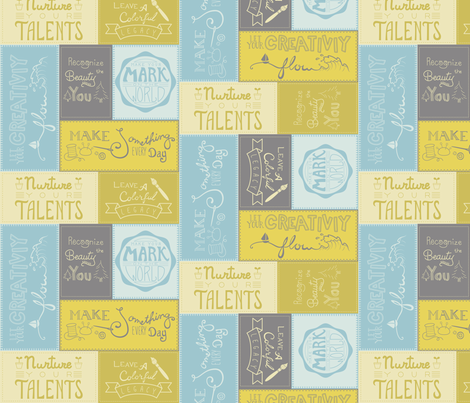 Creative Resolutions in Optimist fabric by lunasol on Spoonflower - custom fabric