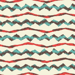 rough edged chevron