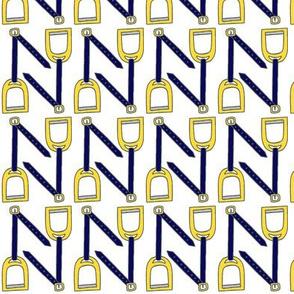 Navy Stirrup Leathers