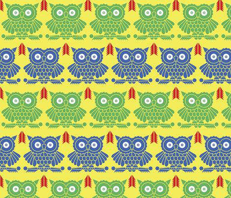 owls fabric by cepera on Spoonflower - custom fabric