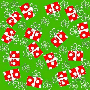 Christmas red polka dot wrap