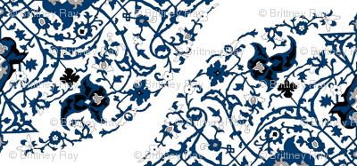 16th Century Medallion Ushak: China Blue