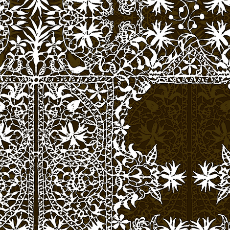 lace-brown fabric by wren_leyland on Spoonflower - custom fabric