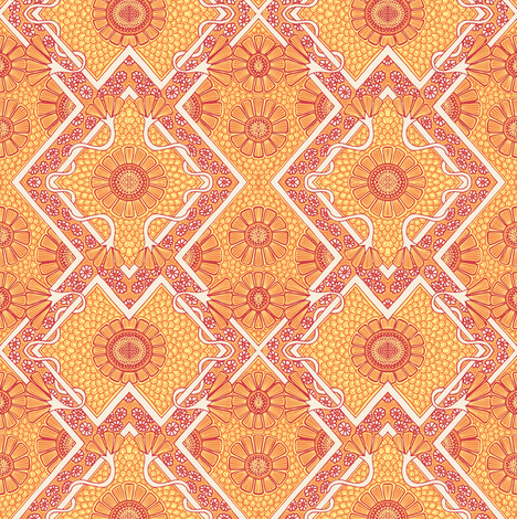 Cue the Sunshine, Hold the Weeds fabric by edsel2084 on Spoonflower - custom fabric