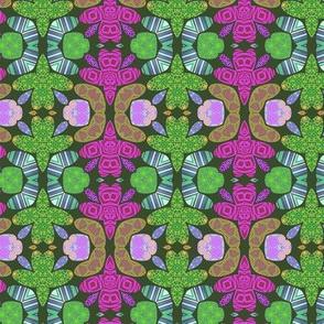 Pattern 49 - purple turtles. Odette Lager
