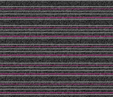 Pink and White Stripes on Speckled Black fabric by anniedeb on Spoonflower - custom fabric