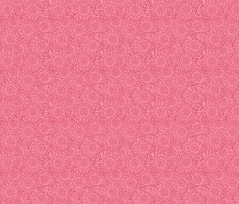 springtime pink mini fleur fabric by scrummy on Spoonflower - custom fabric